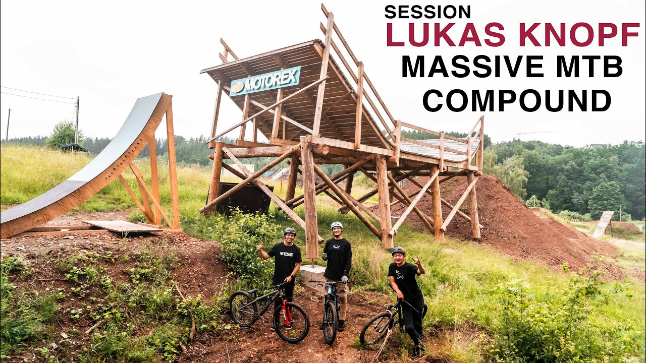 RIDING THE ULTIMATE MTB SLOPESTYLE COMPOUND (Lukas Knopf spot)