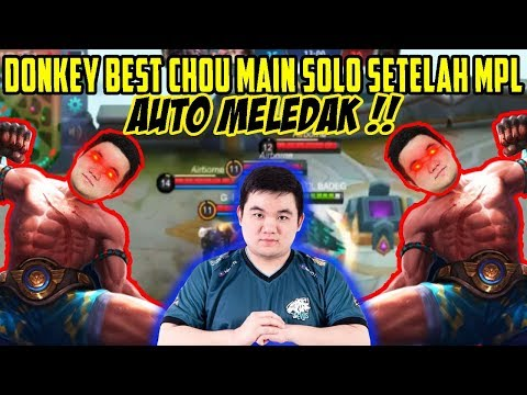 BEST CHOU GAME PLAY BY DONKEY!!! SOLO RANK!!! AFTER MPL!!!