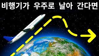 비행기가 우주에 다다를 정도로 높이 난다면 어떻게 될까