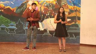 eh kancha cover song by sabin and salina on the stage of sos hgs sanothimi bkt