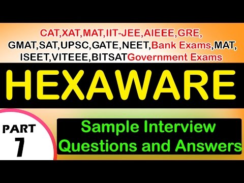 Hexaware -7 Jobs,Career,Interview Questions&Answers,Videos-Freshers,Experienced