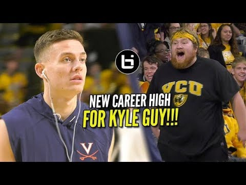 "Kyle Guy (UVA) Called ""Trash"" by Heckler & Responds with Career High!!!"