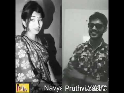 Wow kannada super evergreen best song ,naguva nayana madura prema Dubsmash by Pruthvi Yash ,& sahana