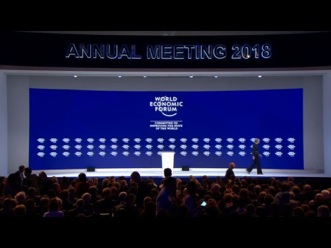 UK Prime Minister Theresa May gives a special address in Davos