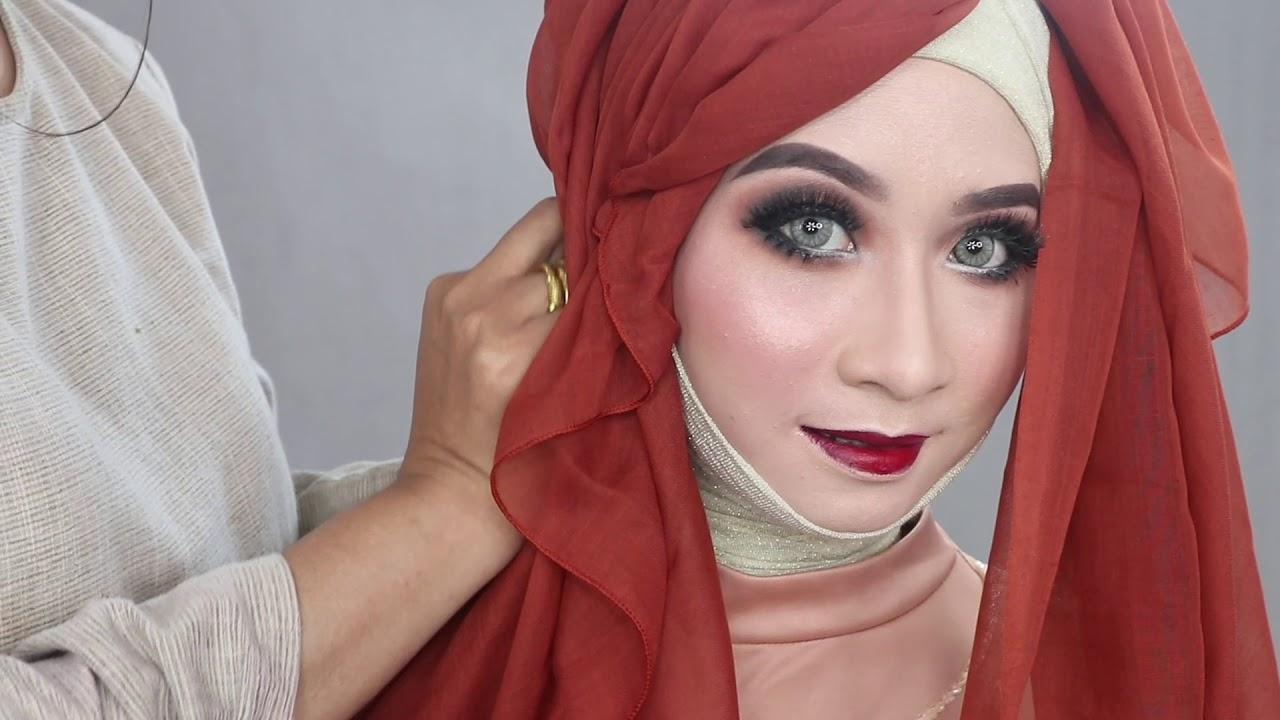 Tutorial Hijab Pengantin Ala Barbie Model Yang Lagi Trend Youtube
