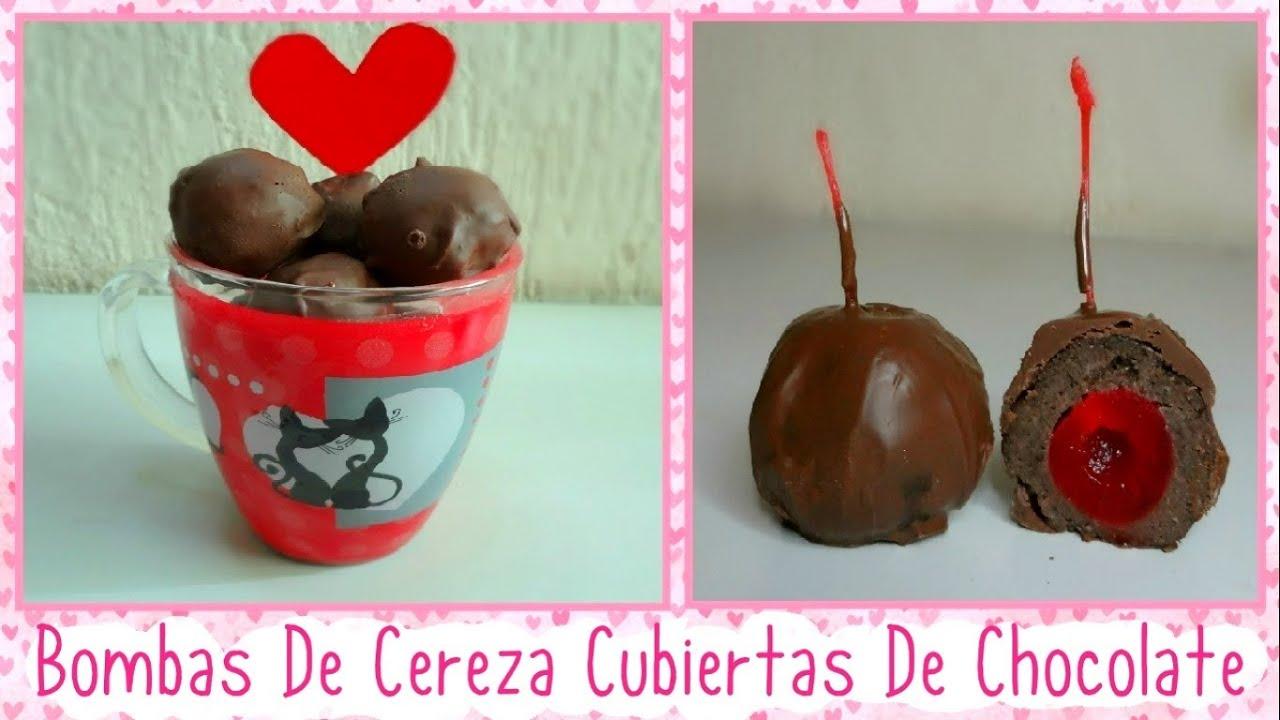 BOMBAS DE CEREZA CUBIERTAS DE CHOCOLATE - Regalo De San Valentin-14 ...