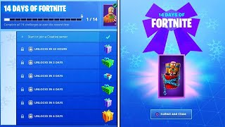 Get your 14 CADEAUX from the 14 Days of Fortnite FOR FREE!