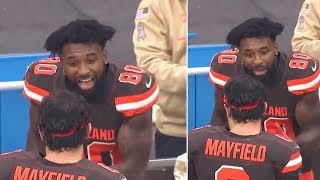 Jarvis Landry CURSES Baker Mayfield Out On Cleveland Browns Sideline
