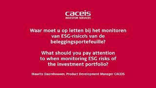 Waar moet u op letten bij het monitoren van ESG-risico's van de beleggingsportefeuille?