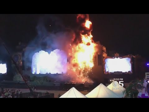 Stage Goes Up In Flames At Music Festival In Spain