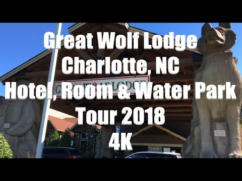 Great Wolf Lodge Resort | Charlotte - Concord, NC | Hotel, Room, And Water Park Tour 2018 | 4K