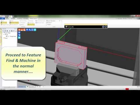 Centre Vice and 2nd Workflow Mill Sequence - Edgecam 2015 R1 CAD-CAM