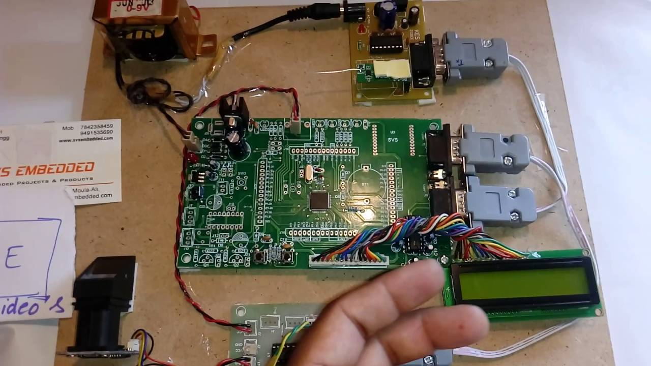 Wireless Fingerprint Attendance System using ZigBee and VB Software
