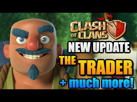 "NEW CHARACTER in ""Clash of Clans"" - The Trader! New Update with Runes, Troop Levels and More in CoC!"