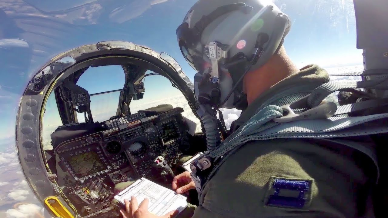 A-10 Thunderbolt II Cockpit View - YouTube