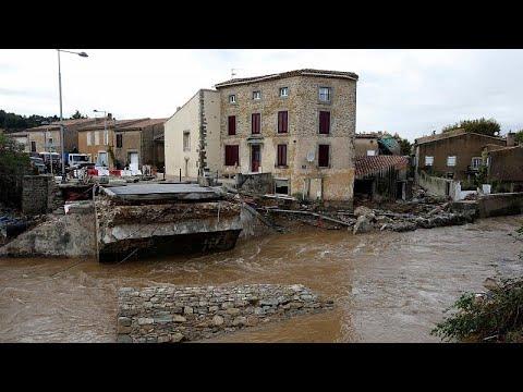Inundações fazem 10 mortos no sudoeste de França