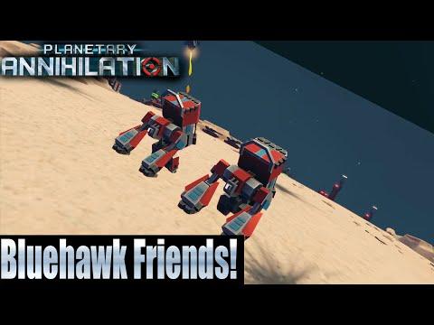 Planetary Annihilation 4v4 Team Game - Bluehawk Friends!