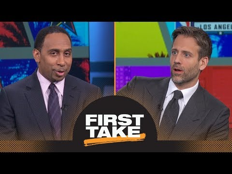 Do Stephen A. and Max have problem with Lonzo Ball charging $199 for autographs? | First Take | ESPN