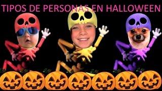 Tipos de personas en Halloween