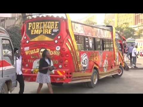 Kenyan mini buses become a canvas for art