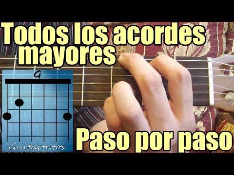 Como tocar acordes de guitarra acústica para principiantes: Acordes mayores
