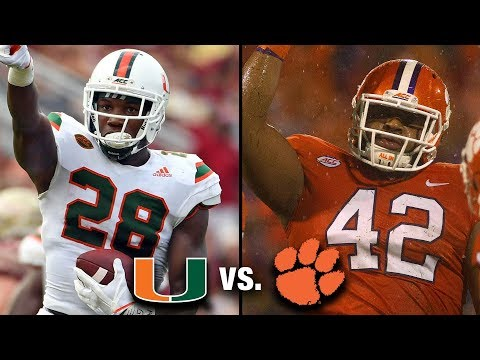 Miami vs. Clemson Hype Video | 2017 ACC Football Championship Game