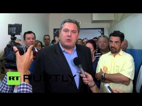 Greece: Kammenos accuses Greek media of terrorism as he casts ballot