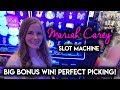 BIG WIN! NEW Mariah Carey Slot Machine! Back 2 Back PERFECT Picking BONUSES! WOW!!