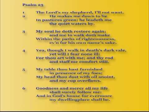 Psalm 23 Presbyterian Reformed Church of Charlotte