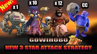 TH9 GOWIHOBO NEW 3 STAR ATTACK STRATEGY | GOLEM+WITCH+HOGS+BOWLERS OVERPOWERED | CLASH OF CLANS !!