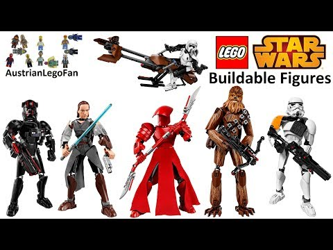All Lego Star Wars Buildable Figures Summer / Autumn 2017 - Lego Speed Build Review