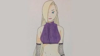 DRAWING INO YAMANAKA FROM THE LAST:NARUTO THE MOVIE