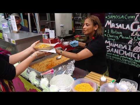 Indian Street Food: Yummy Samosa Chana Chaat & Masala Chips By Chaatits At Alchemy Festival, London.