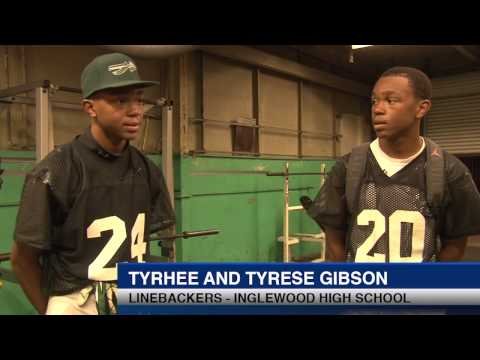 Gibson Twins Inglewood, Courtesy of the Cronkite Sports Bureau, Los Angeles