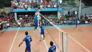 warming up volleyball Perkasa vs Pambers