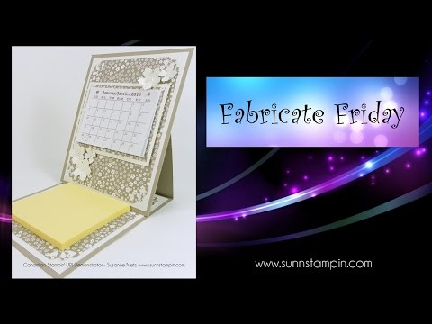 Mini Easel Calendar featuring Stampin`Up! Products