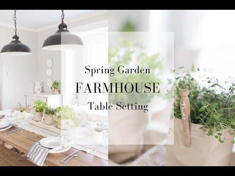 SPRING TABLE SETTING   Farmhouse Spring Decor