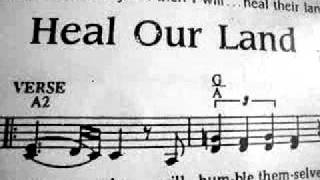 heal our land instrumental transposed....(lower version)