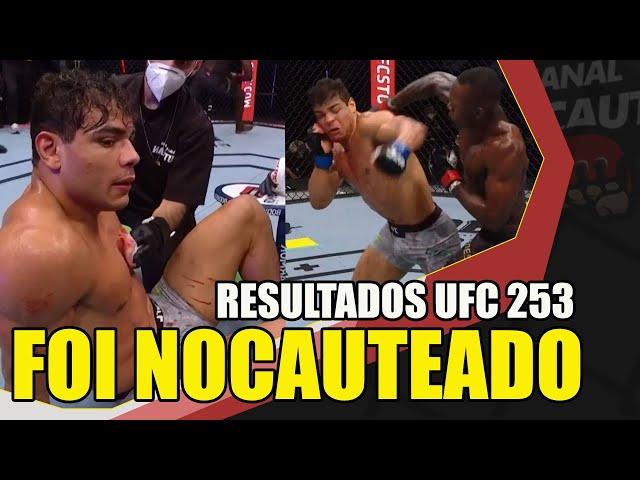 PAULO BORRACHINHA FOI NOCAUTEADO POR ISRAEL ADESANYA / RESULTADOS UFC 253