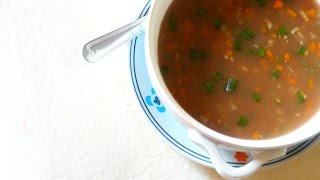 Hot & Sour Soup Recipe in Tamil