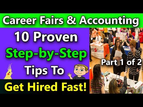 How To Get A Job In Accounting by Attending Career Fairs (The Secret to getting a job in accounting)