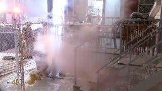 Rosemont: Intervention durant la tempête / Residential fire during snow storm 1-20-2019