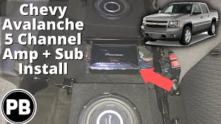 2007 - 2014 Chevy Avalanche 5 Channel Amp and Sub Install