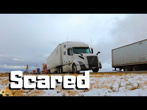 Almost JACKKNIFED On The Most DANGEROUS Highway In America | First Winter ICE SNOW Trucking |