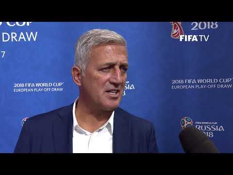 Vladimir Petković - European Play-Off Draw Reaction (EXCLUSIVE)