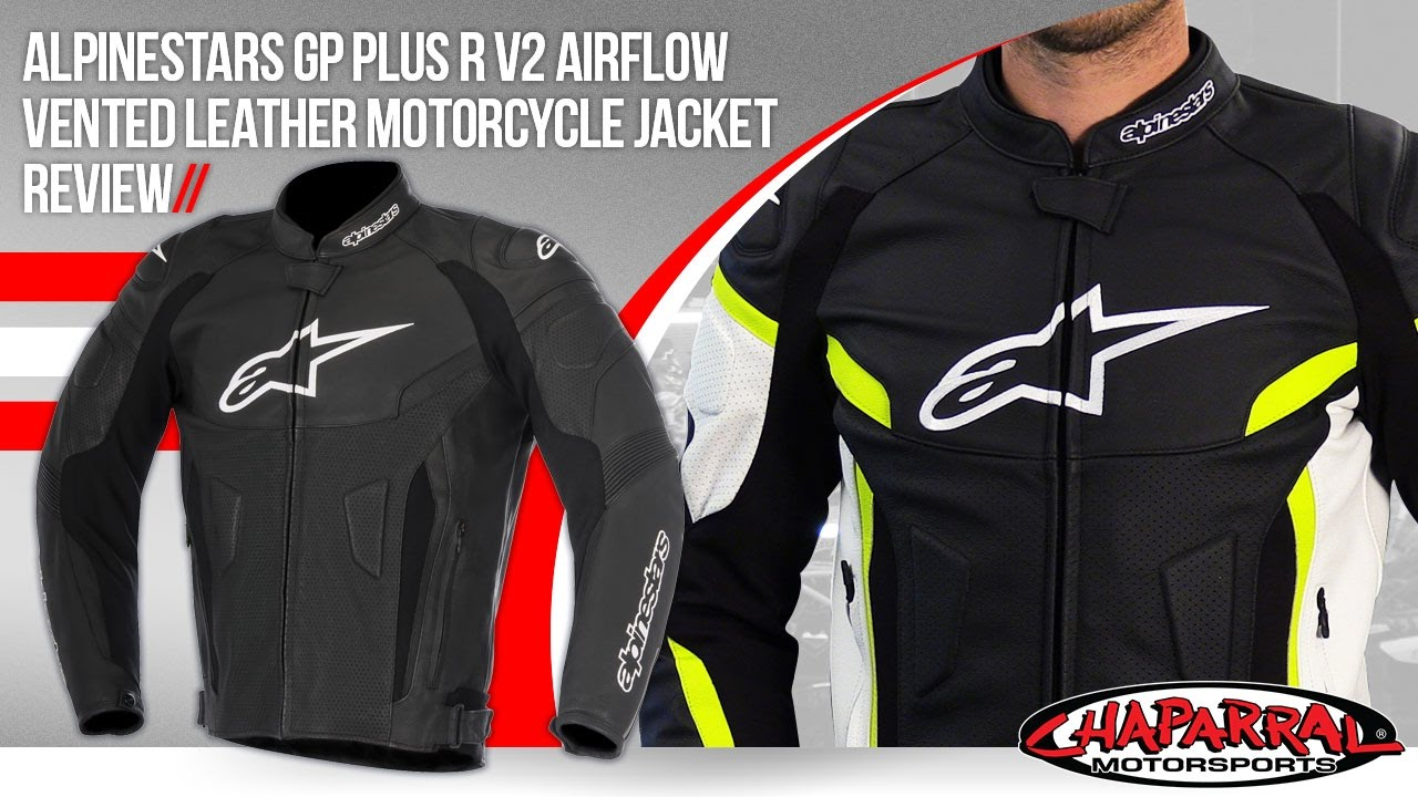 Alpinestars Jacket Leather >> Alpinestars GP Plus R v2 Airflow Vented Leather Motorcycle Jacket Review - YouTube