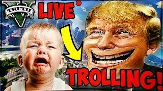 GTA 5 ONLINE TROLLING LIVE! KIDS CRYING & RAGING