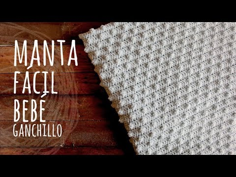 Tutorial Manta o Cobija Bebé Muy Fácil Ganchillo | Crochet - YouTube