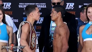 The Oscar Valdez vs. Miguel Marriaga FULL WEIGH IN AND FACE OFF VIDEO
