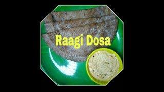 Raagi Dosa or Finger Millet Dosa || Healthy Break Fast Recipe By Asap Kitchen